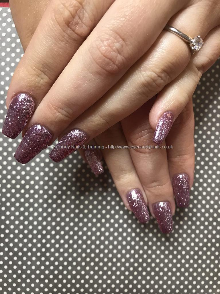 Social Build - Tapered Square Nails With Pink Diamond Gel Polish ...