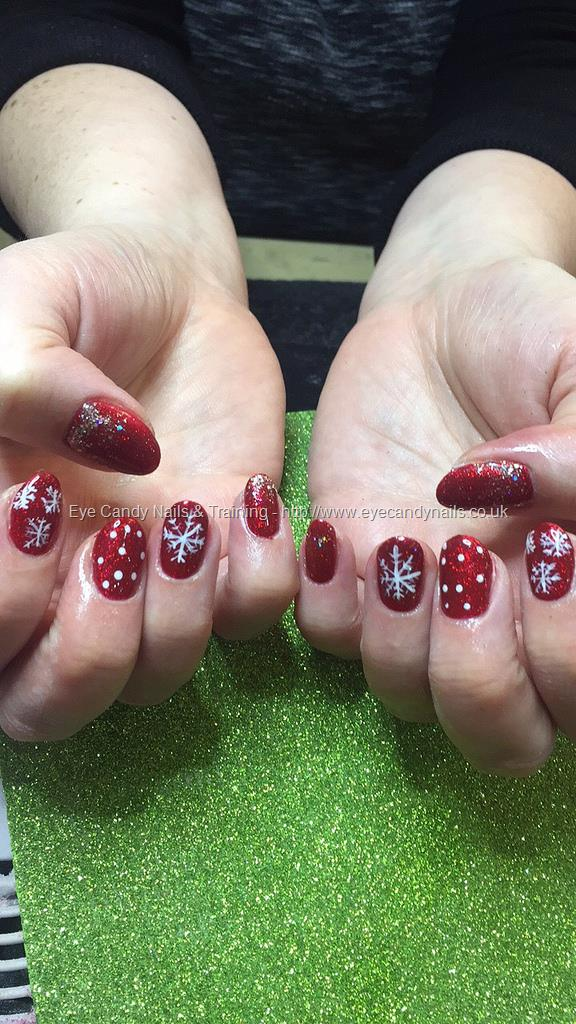 Social Build - Christmas Nails, Gel Polish, Red Glitter. Nail ...
