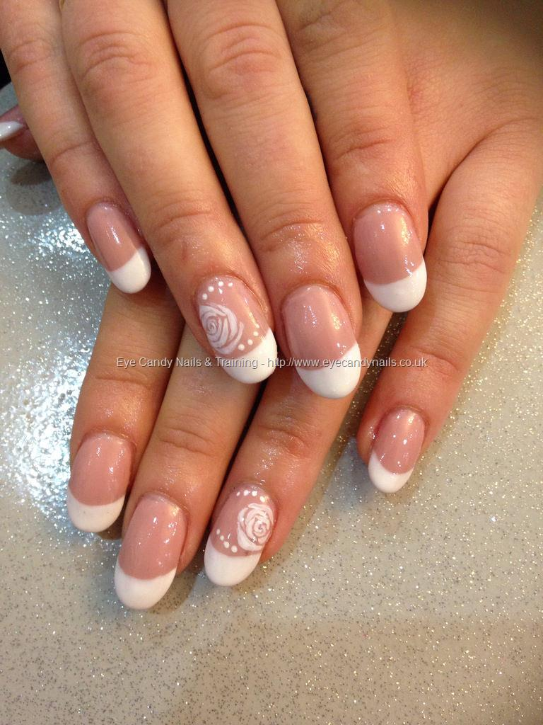 Social Build - Acrylic Ovals With Blush Gel Polish And Gel French ...
