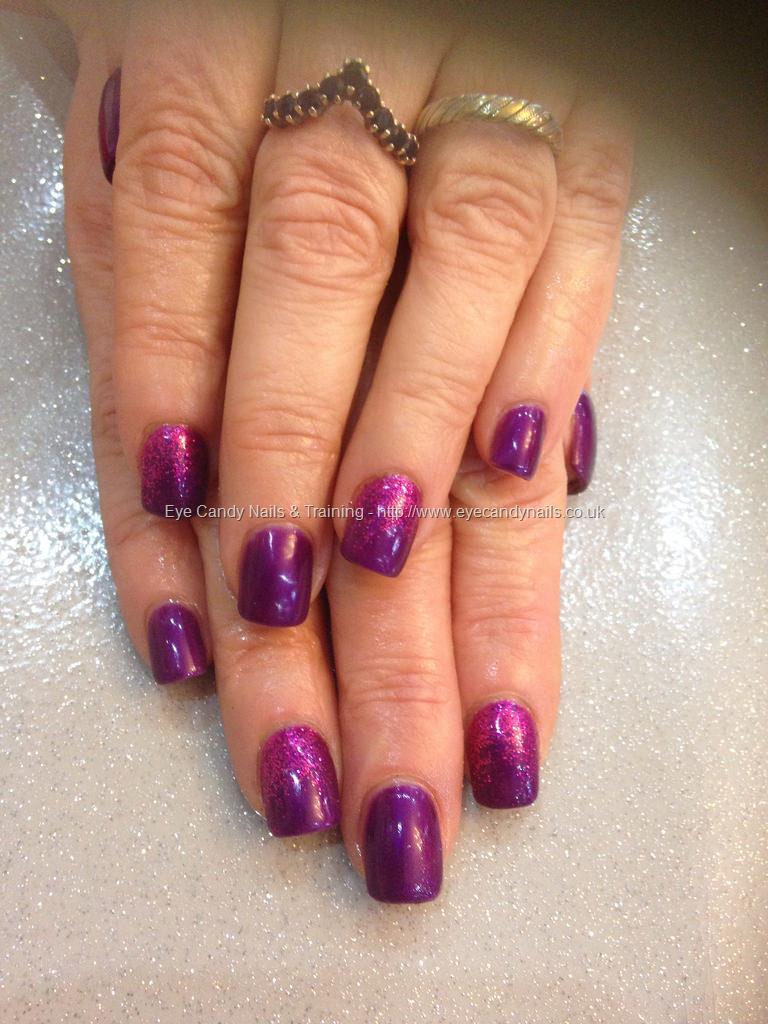 Social Build - Cadbury Purple Gel Polish With Fuchsia Pink Glitter ...