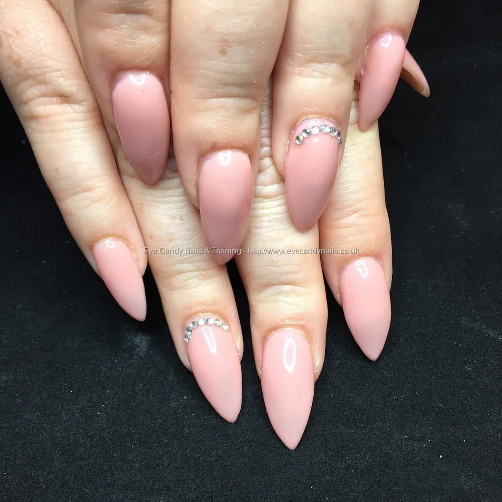 Nail Polish On Pinky Finger Meaning: Almond Acrylics With Pinky Nude Gel Polish