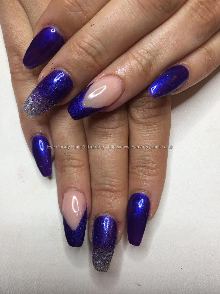 Social Build - Ballerina Acrylics With Cadbury Blue/ Purple Gel ...