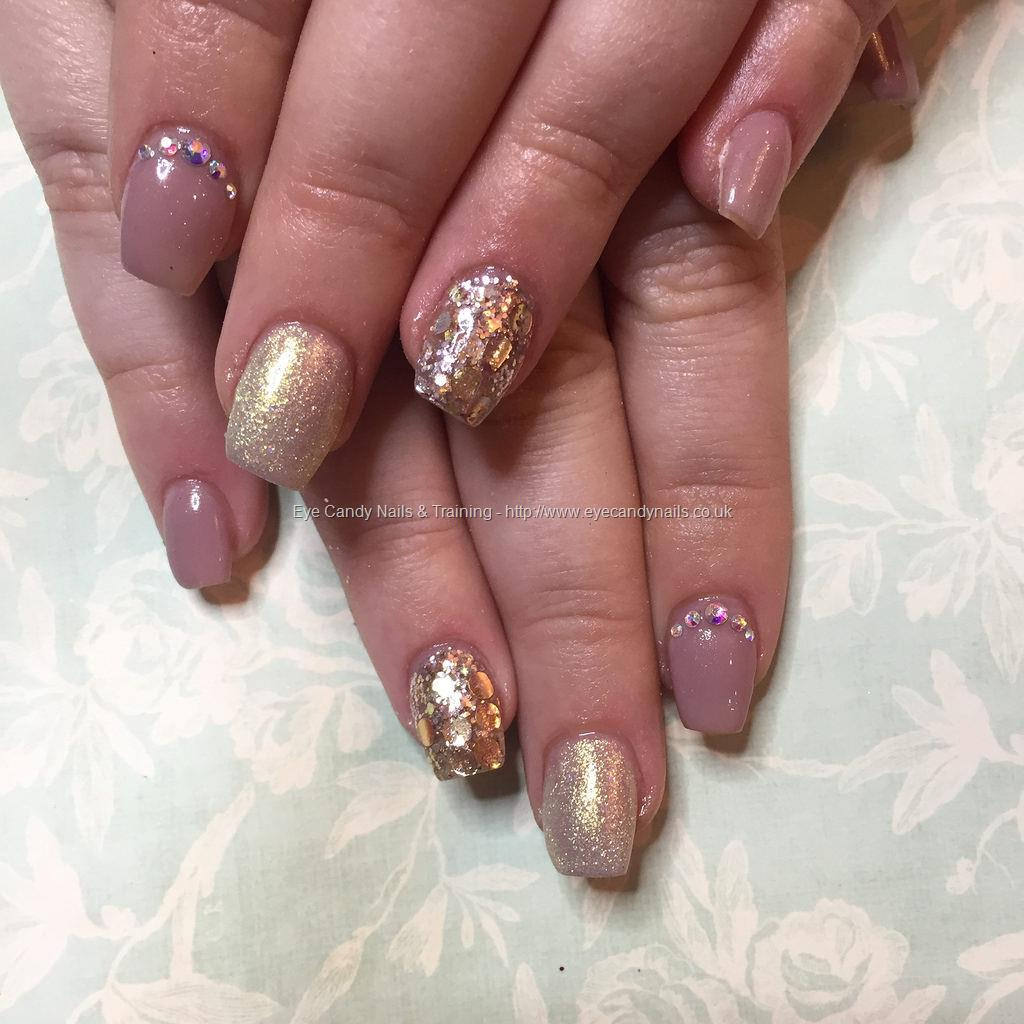 Social Build - Short Tapered Acrylics With Nude-A-Tude Gel Polish ...