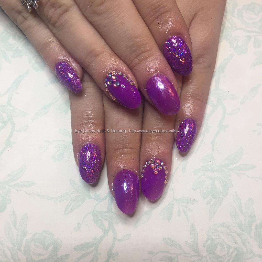 Purple Gel Nail Polish: Purple Gel Polish With Holographic Glitter