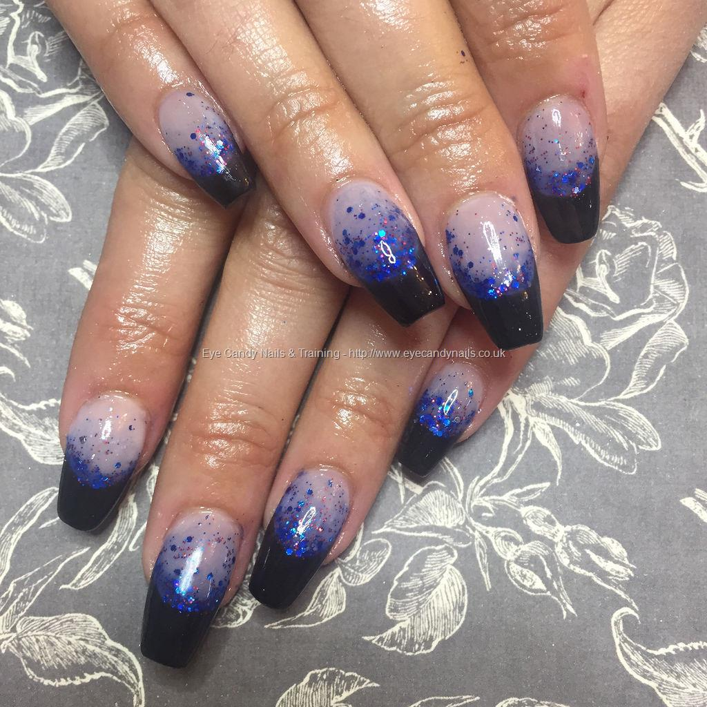 Dev Guy - Tapered Acrylics With Black French And Navy Blue