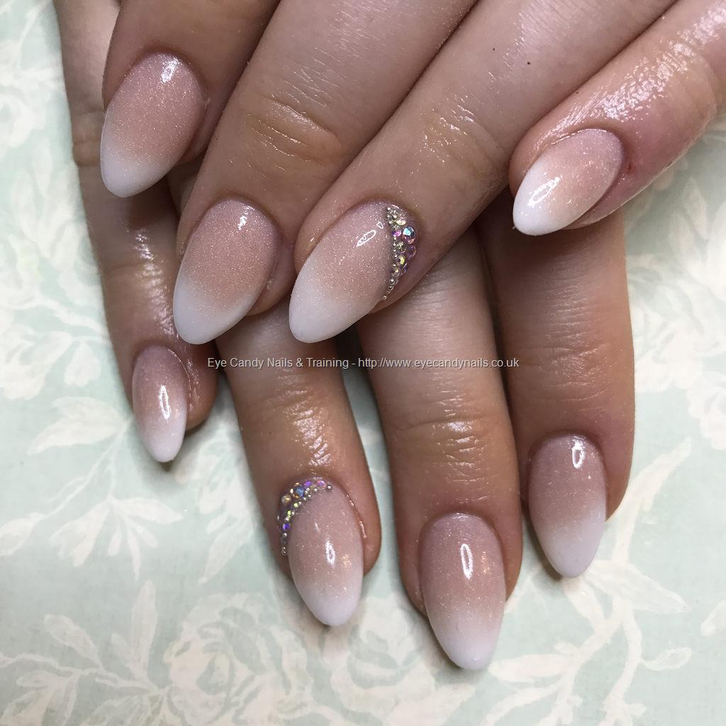 Social Build - Almond Acrylics In French Ombré With Swarovski ...