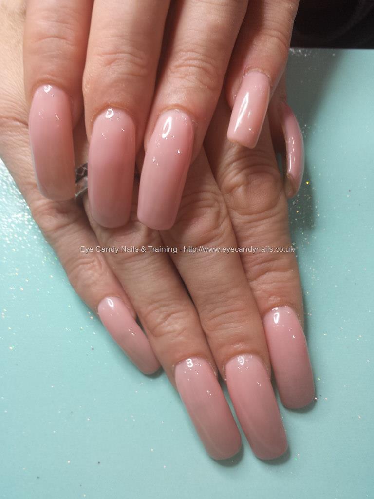 Social Build - Acrylic Nails With Nude Gel Polish. Nail Technician ...