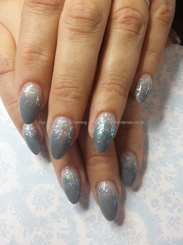 Social Build - Grey Acrylic And Glitter Fade. Nail Technician:Elaine ...