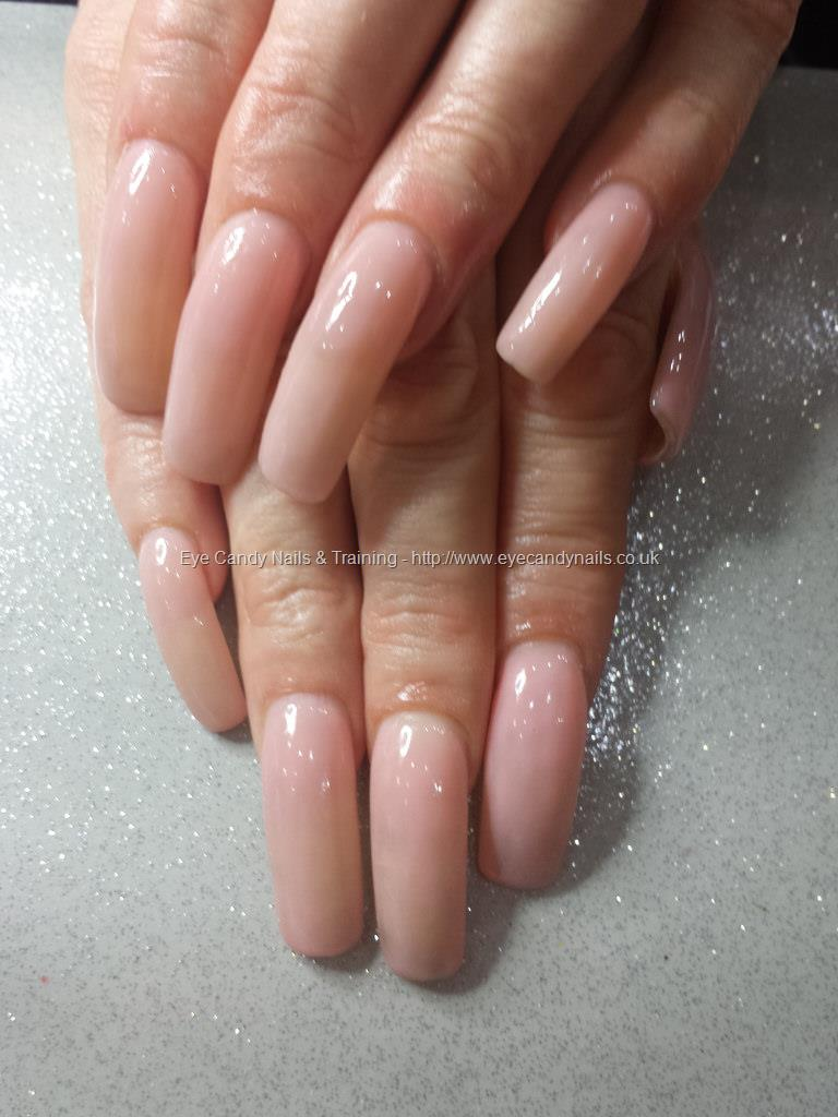 Social Build - Pink Slushie Gel Polish Over Natural Nail Acrylic ...