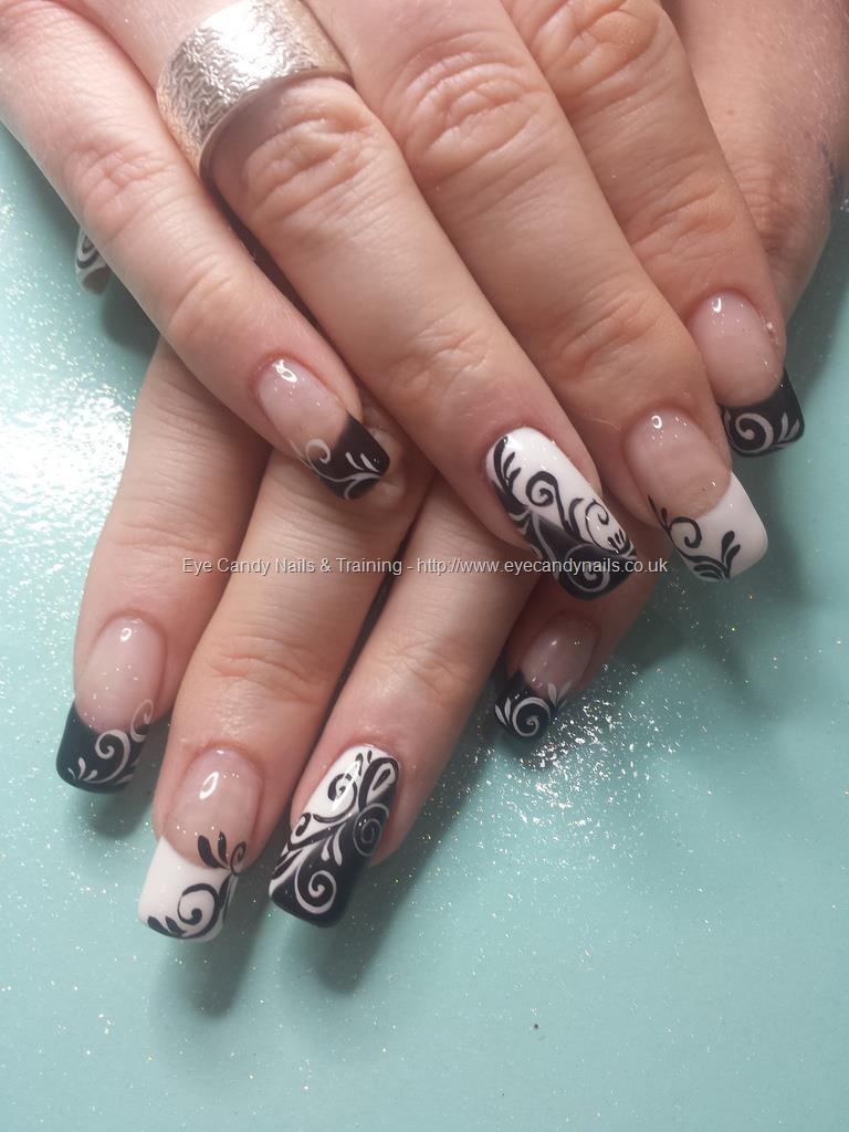 Social Build - Freehand Nail Art Over Acrylic Nails. Nail Technician ...