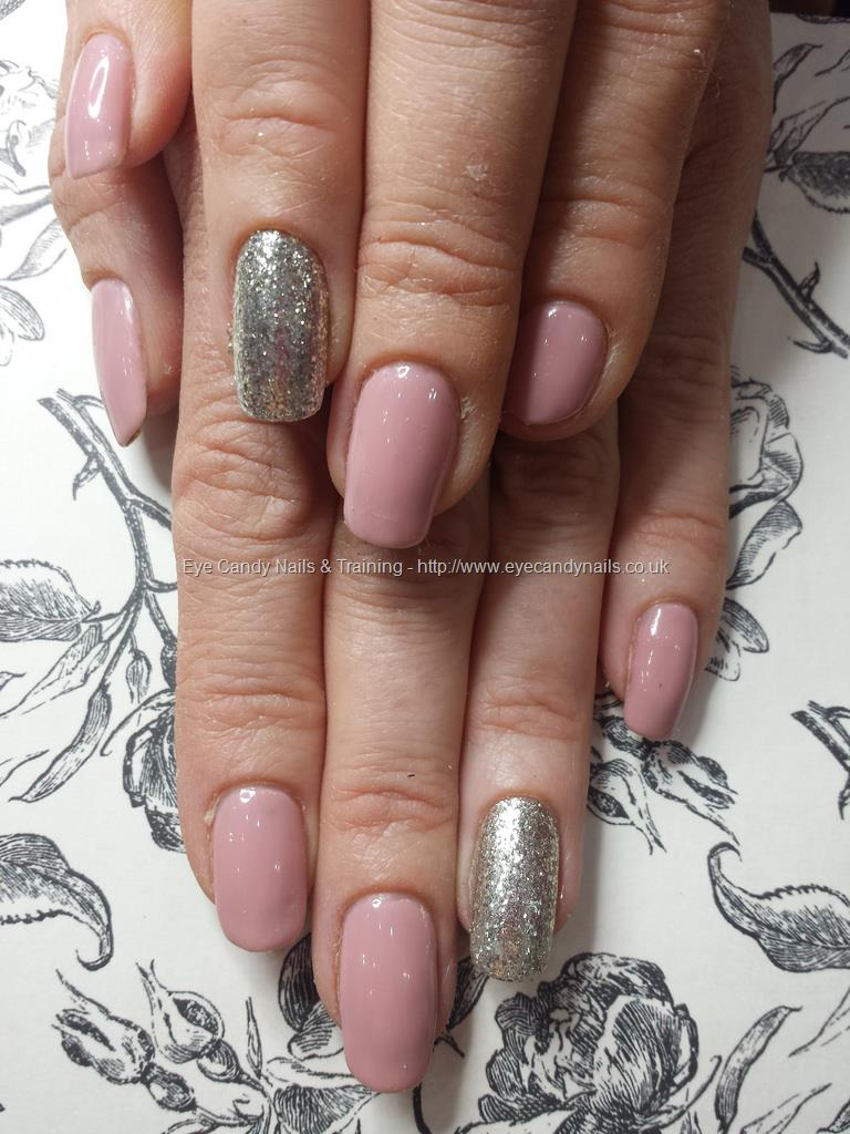 Social Build - Blush Gel Polish With Glitter Ring Fingers. Nail ...