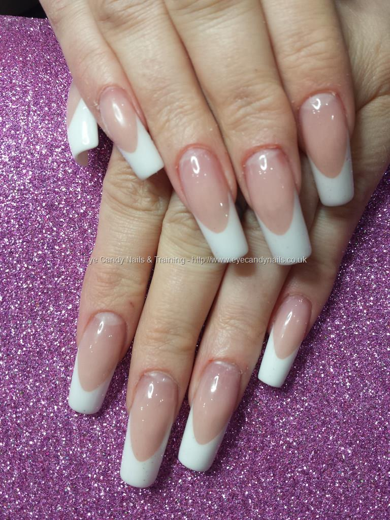 Social Build - Pink And White Acrylic French Overlays. Nail ...