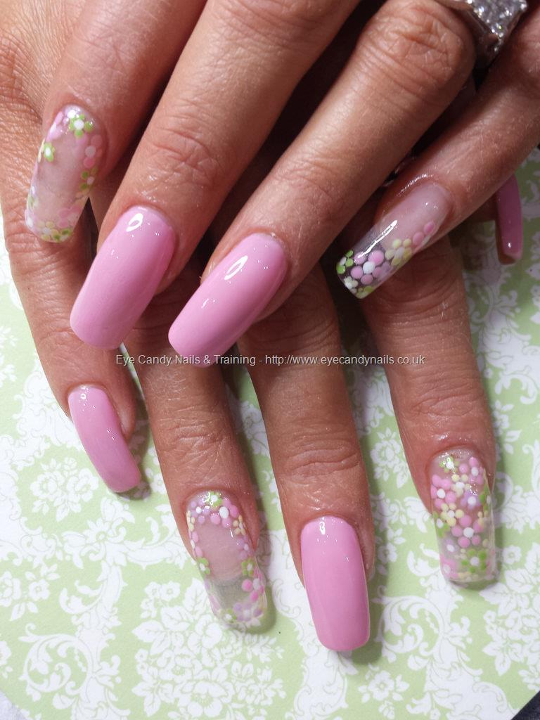 Social build pink polish with clear tips and dotty daisy flower pink polish with clear tips and dotty daisy flower nail art nail technicianelaine prinsesfo Gallery