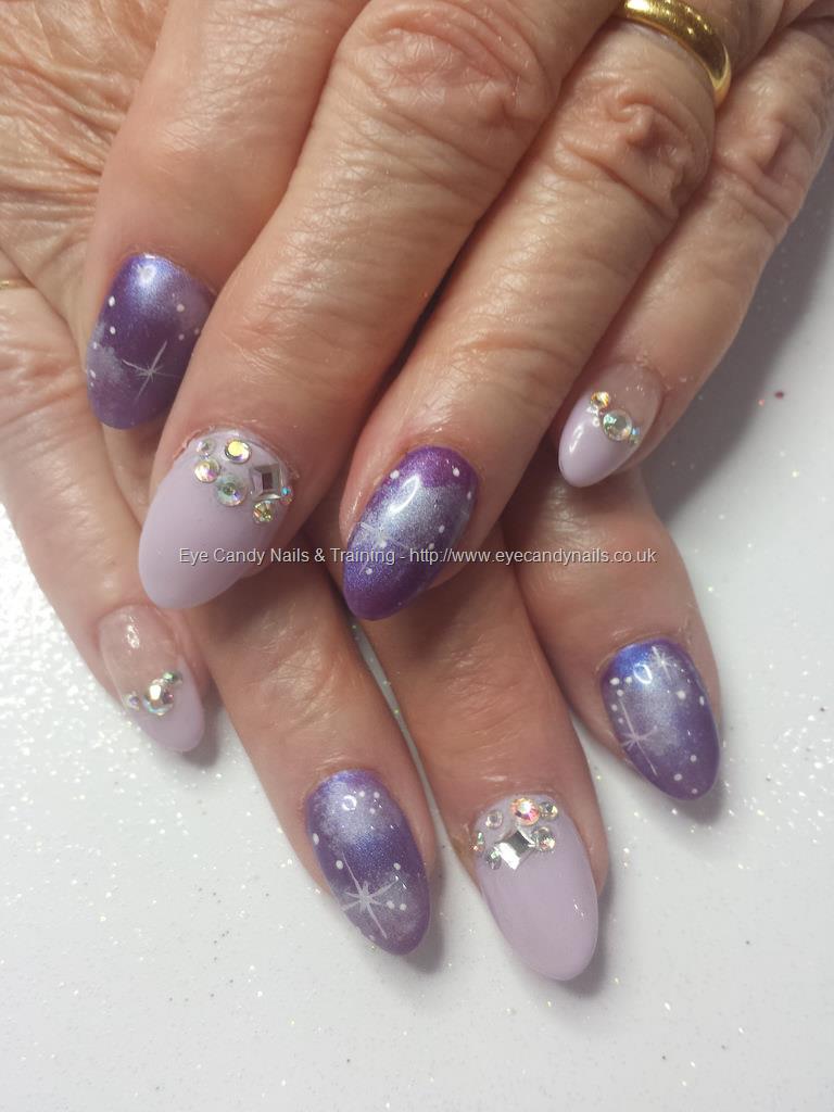 Social Build - Lilac Gel Polish With Galaxy Nail Art And Swarovski ...