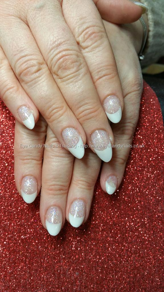 Social Build - White Acrylic French Almond Acrylic Nails. Nail ...