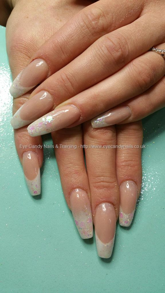 Social Build - White Acrylic Tips With Iridescent Glitter Tips. Nail ...
