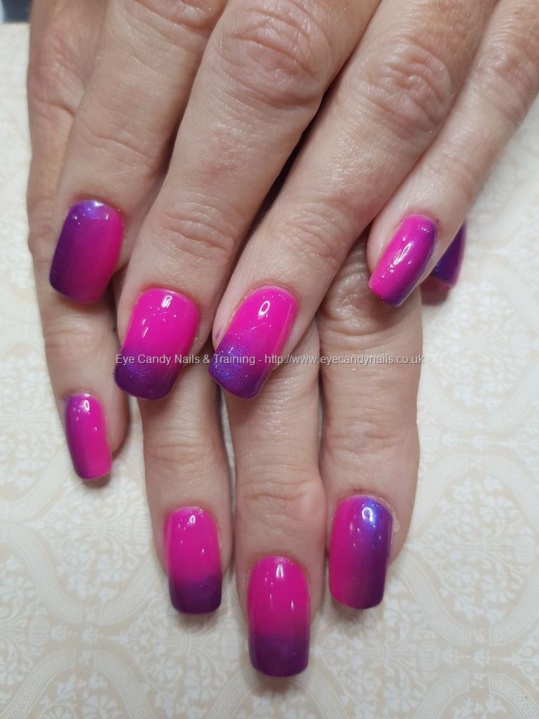 Social Build - Pink And Purple Gel Polish Fade. Nail Technician ...