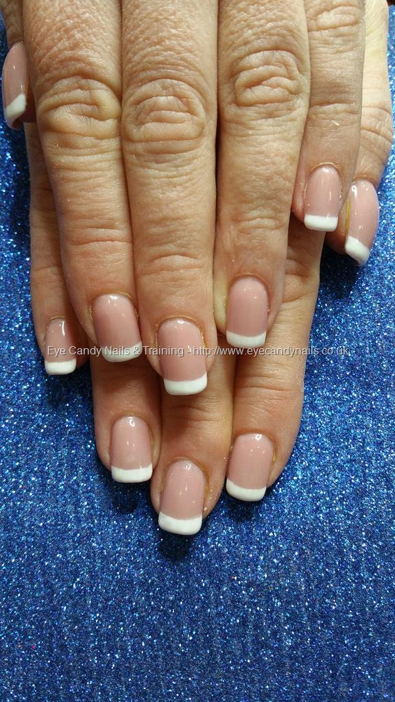 Social Build - White Gel French Polish Over Gel Nails. Nail ...