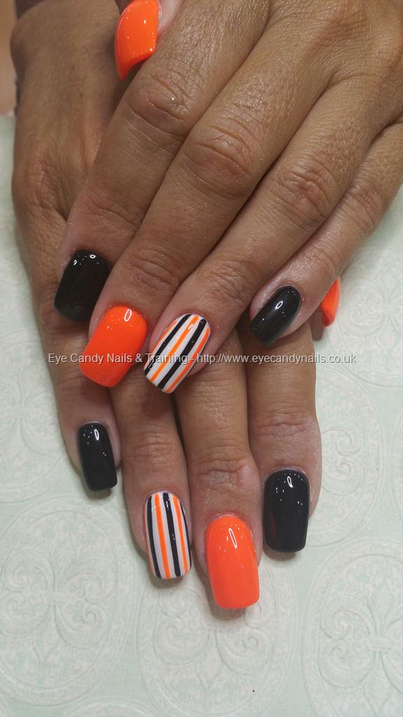 Social Build - Neon Orange And Black Gel Polish With ...