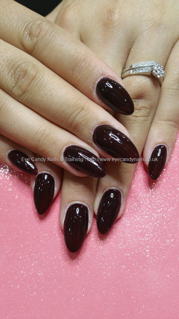 Dev Guy Dark Chocolate Gel Polish Over Almond Nails Nail