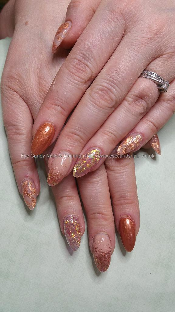 Dev Guy - Peach Blush Acrylic With Rose Gold Chrome And Rose