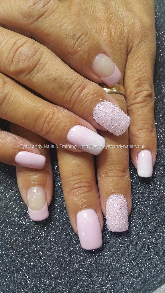 Social Build - Pink And White Gel Polish With Swarovski Crystal ...