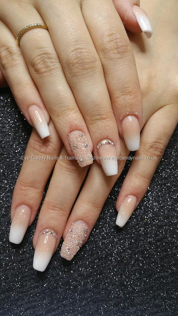 Social Build - French Ombre Fade With Swarovski Crystals And Crystal ...