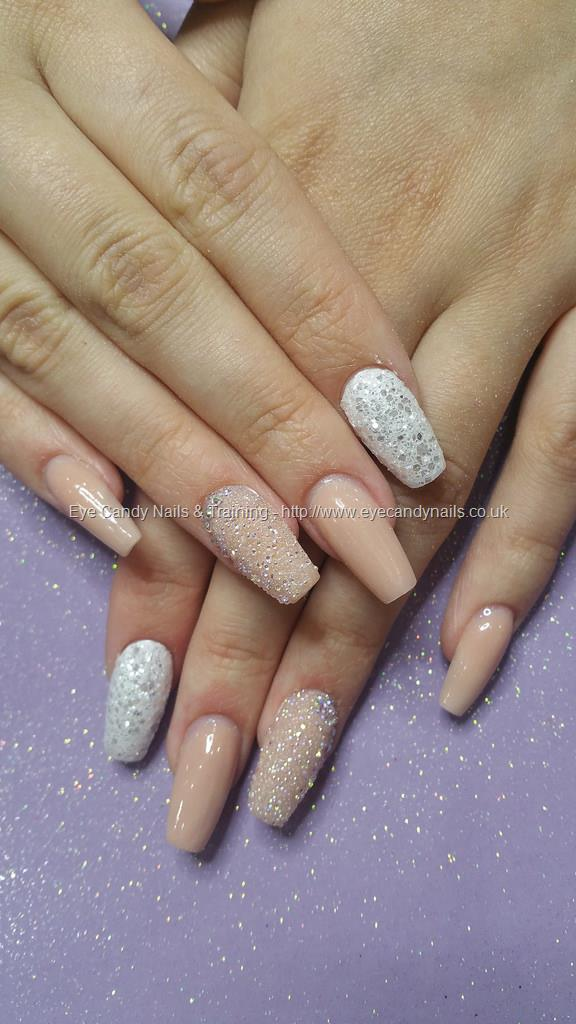 Social Build - Nude Gel Polish With Silver Glitter And Crystal Pixie ...