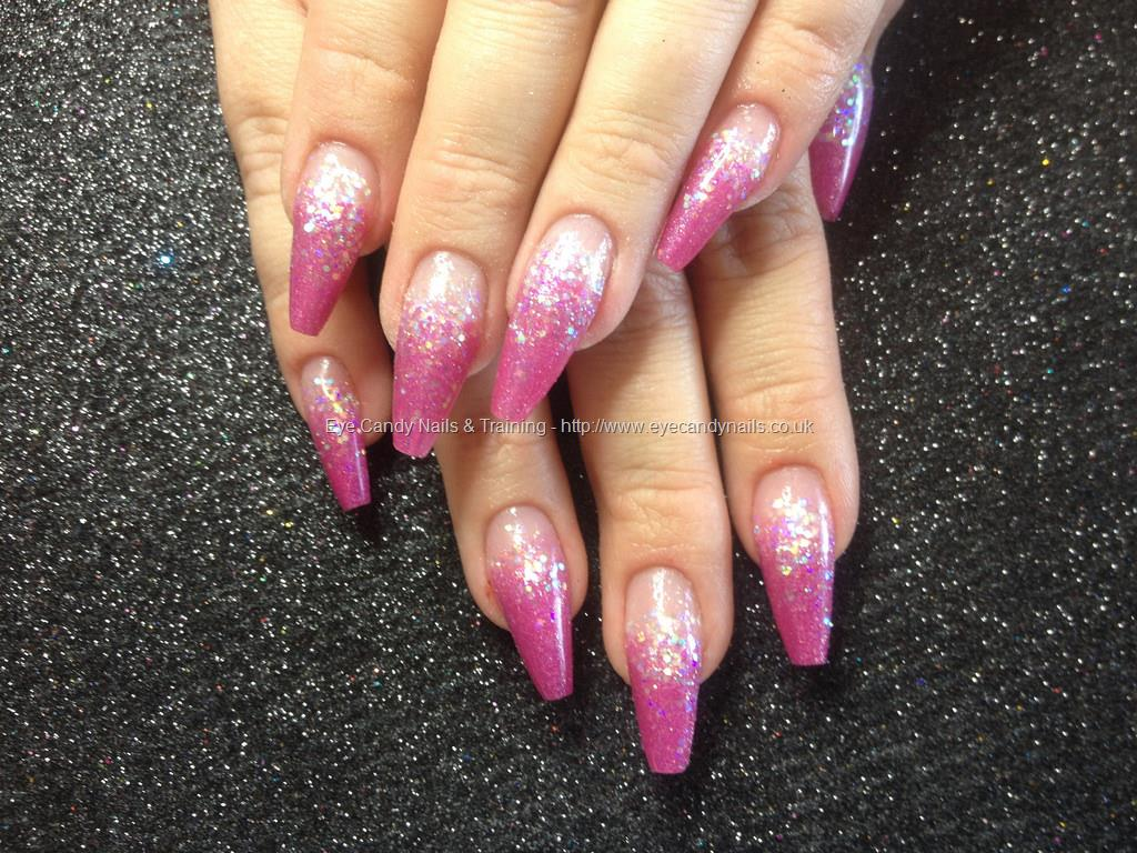 Social Build - Coffin Acrylic Nails With Pink Acrylic And White ...