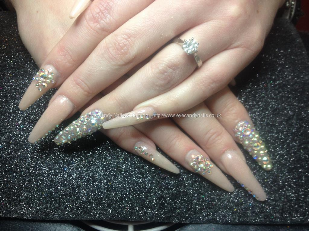 Social Build - Stiletto Nails With Swarovski Crystals On. Nail ...