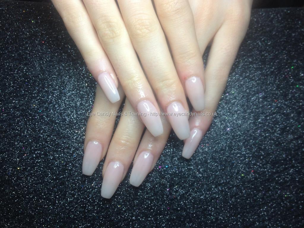Social Build - Acrylic Nails With Paul Pink Gel Polish. Nail ...