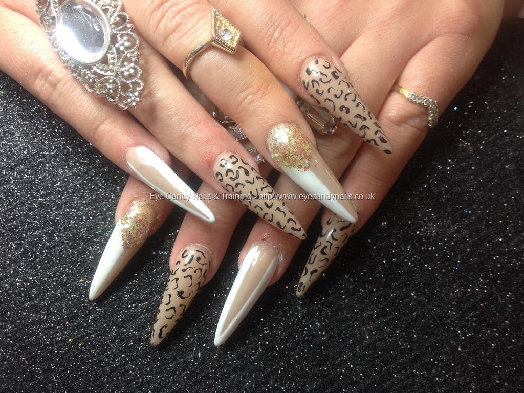 Social Build Stiletto Nails With Leopard Print Nail Technician